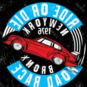 Old School Car Vector: Stock Vector T Shirt Graphics Vintage Race Car For Printing Vector Old School Race Poster Retro Race Car Set T S