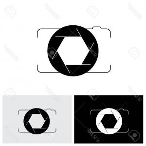Camera Outline Vector Graphic: Cctv Surveillance Camera Outline Icon Linear