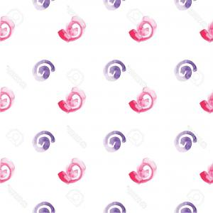 Violet Swirl Design Vector: Photostock Vector Abstract Watercolor Vector Background Seamless Curly Pattern Pink And Violet Swirls Texture