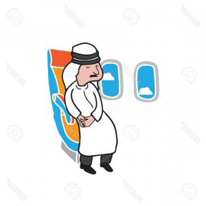 Vector Man Working In Cabin: Photostock Vector Airplane Cabin Passenger Young Man With Coffee