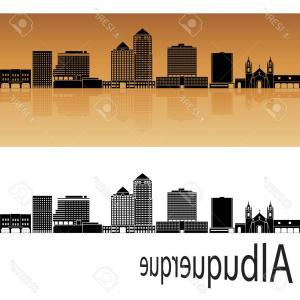 Vector Albuquerque: Albuquerque New Mexico Usa Skyline Vector