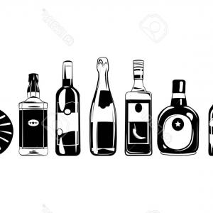 Alcohol Vector: Alcohol Set Icons In Black Style Big Collection Of Alcohol Vector Symbol Stock Image