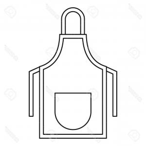 Apron Vector: Realistic White Black Kitchen Apron Vector Image Realistic White Black Kitchen Apron Vector Illustration Image