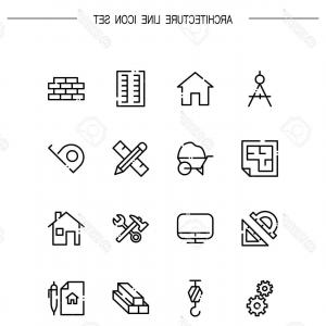 Architecture Vector: Photostock Vector Architecture Icons Set Simple Style Of Architecture Vector Icons For Web Isolated On White Backgr