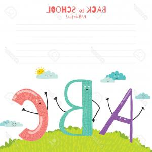 ABC Vectors: Photostock Vector Back To School Design Cute And Cartoon Illustration Smiling Happy Kids Welcome To School Abc Vector