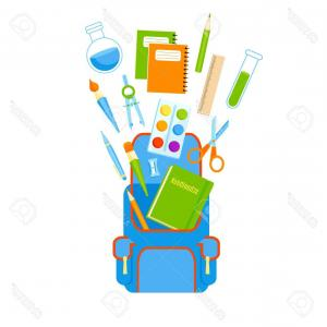 Individual School Supplies Vector: Stock Photography Individual School Supplies Image