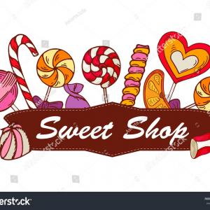 Candy Shop Vector Label: Photostock Vector Bakery Shop Vintage Labels Logo Vector Design Sweet Candy Store Logotypes Templates With Icon Pack