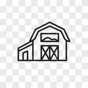 Behind Barn Vector Art: Photostock Vector Barn Vector Icon Isolated On Transparent Background Barn Logo Concept