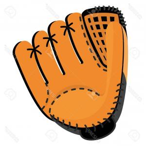 Vector Softball Cleats: Photostock Vector Baseball Equipment Leather Softball Glove Flat Vector Cartoon Illustration Objects Isolated On A Whi