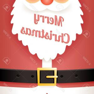 Vector Santa Belt: Vector Santa Belt On Red Plate