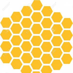 Bee Hive Vector Graphic: Photostock Vector Bee Honeycomb With Honey In A Hexagon