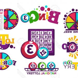 Windows 8 Logo Vector: Photostock Vector Bingo Lotto Or National Lottery Logo Templates Set Vector Icons Of Lucky Jackpot Win Balls Numbers P