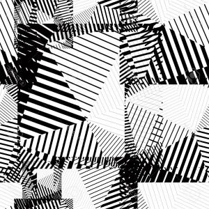 Black Abstract Lines Vector: Stock Photo Halftone Zig Zag Pattern Background Vector Zigzag Texture Retro Abstract