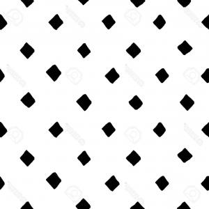 Simple Black And White Pattern Vector: Photostock Vector Black And White Diamond Shape Hand Drawn Simple Geometric Seamless Pattern Vector Background