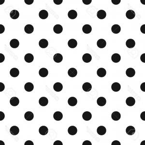Polka Dot Background Vector Y: Photostock Vector Black And White Polka Dot Seamless Pattern Classic Abstract Background From S Retro Geometric Desi