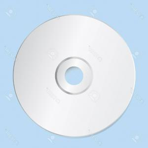 CD Label Template Vector: Photostock Vector Blank Cd Template On Blue Background With Shadow Vector Illustration