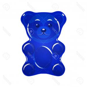 Gummy Bear Vector: Photostock Vector Blue Jelly Bear Vector Illustration