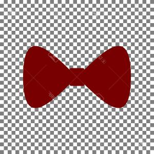 Bow Tie Vector Graphic Transparent: Photostock Vector Bow Tie Icon Vector White Icon With Soft Shadow On Transparent Background