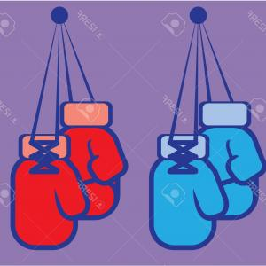 Boxing Gloves Vector Clip Art: Photostock Vector Boxing Gloves Vector Illustration Clip Art Image