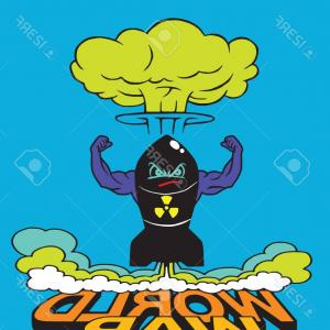 Atomic Vector Coud: Stock Illustration Cartoon Atomic Bomb And Atomic