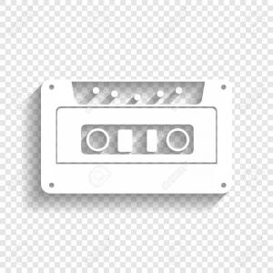 Cassette Icon Vector: Audio Cassette Icon Vector Clipart