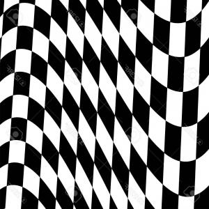 Checkered Flag Background Vector: Racing Background With Checkered Flag Vector Clipart