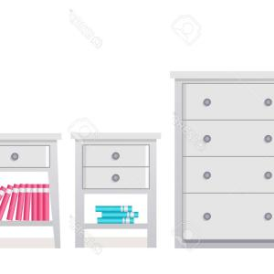 Vector Open Dresser: Photostock Vector Chest Of Drawers Bedside Table Vector Furniture Icon In Flat Design Cartoon House Equipment Dresser