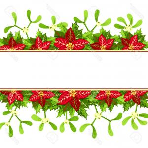 Christmas Horizontal Vector: Red Elegant Christmas Tree Isolated White Background Horizontal Vector Illustration Image