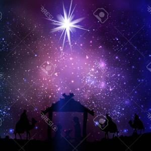 Space Background Vector Art: Photostock Vector Christmas Star On The Hut Of Jesus Christ On A Space Background Vector Art Illustration