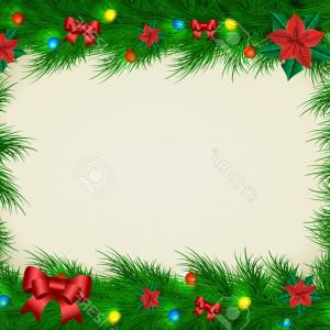 Christmas Horizontal Vector: Stock Illustration Horizontal Seamless Background Colorful Christmas Balls Vector Illustration Hanging Bows White Image