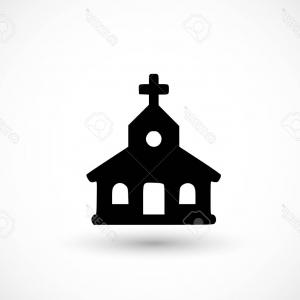 Church Silhouette Vector: Photostock Vector Church Icon Vector Illustration On Light Background