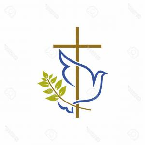 Cross Vector Logos: Photostock Vector Church Logo Christian Symbols Cross Dove And Olive Branch