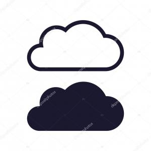 Cloud Clip Art Vector: Photostock Vector Cloudy Or Cloud Partly Blocking The Sun Line Art Vector Icon For Weather Apps And Websites