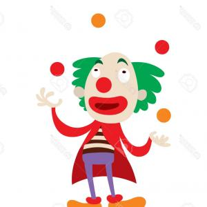Joker Smile Vector Art: Three Dimensional Smiling Joker Head Red