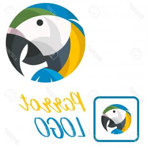 Abstract Vector Art Parrot: Colorful Parrot On Transparent Background Gm