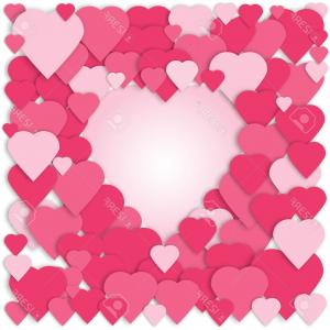 Heart Card Vector: Photostock Vector D Paper Hearts Collage Vector Card Pink Hearts Background Wedding Anniversary Birthday Valentine S