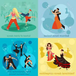 Vector Styles: Photostock Vector Dancing Styles Vector Concepts Set People Dance Ballroom Festival Championship Waltz Or Tango Illust
