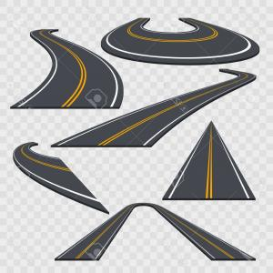 Transparent Curved Road Vector: Stock Illustration Perspective Curved Road Vector Transparent Background Web App Game Illustration Image