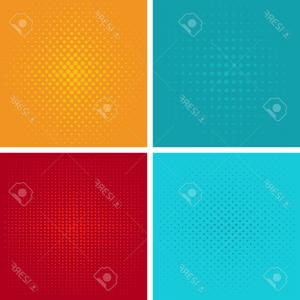 Pop Art Pattern Background Vector: Red Dots On A Yellow Background Pop Art Pattern Vector