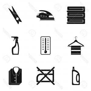 Dry Cleaning Vector: Stock Illustration Dry Cleaning Vector Logo Isolated