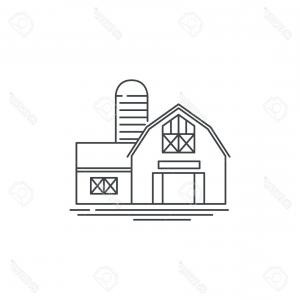 Barn Outline Vector: Photostock Vector Farmhouse Barn Line Icon Outline Illustration Of Horse Barn Vector Linear Design Isolated On White B