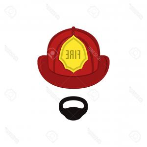 Lifesaver Vector: Photostock Vector Firefighter In Professional Outfit The Man Is A Lifesaver Vector Illustration