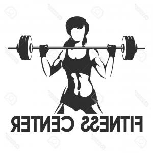 Vector Barbell Press: Athlete Silhouette Lift Barbell Heart Vector