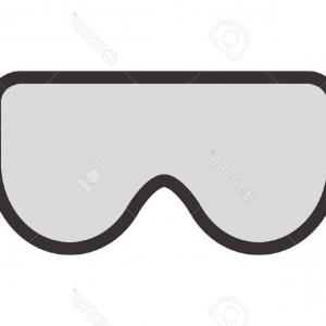 Glasses Vector Flat: Photostock Vector Flat Design Safety Goggles Icon Vector Illustration