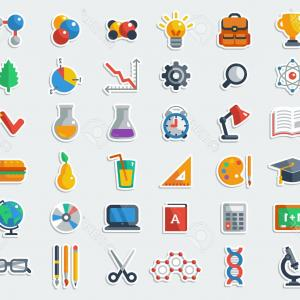 Free Vector Flat Education Icons: Photostock Vector Education Icons Set Flat Vector Related Icons Set For Web And Mobile Applications It Can Be Used As