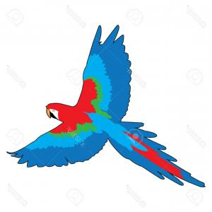 Abstract Vector Art Parrot: Hand Drawn Vector Abstract Graphic Ink Realistic Tropical Parrot Sketch Isolated On Gm