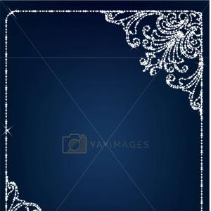 Backgrounds And Vector Frames And Borders: Photostock Vector Frame Border Design Template Black And White Decorative Vector Border On White Blank Background For