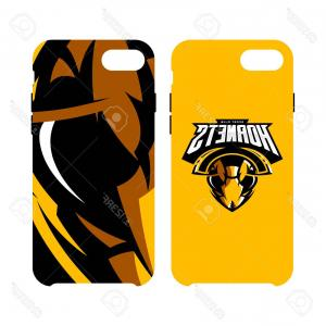 Hornet Logo Vector: Photostock Vector Furious Hornet Head Athletic Club Vector Logo Concept Isolated On Smart Phone Case Modern Sport Team