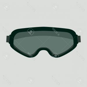Goggles Vector: Photostock Vector Goggles Vector Illustration Flat Style Front View