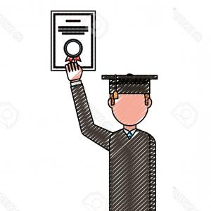 Standing Diploma Vector: Photostock Vector Vector Flat College University Graduates Scenes Set Boy Standing Hugging Parents Another Boy In Grad